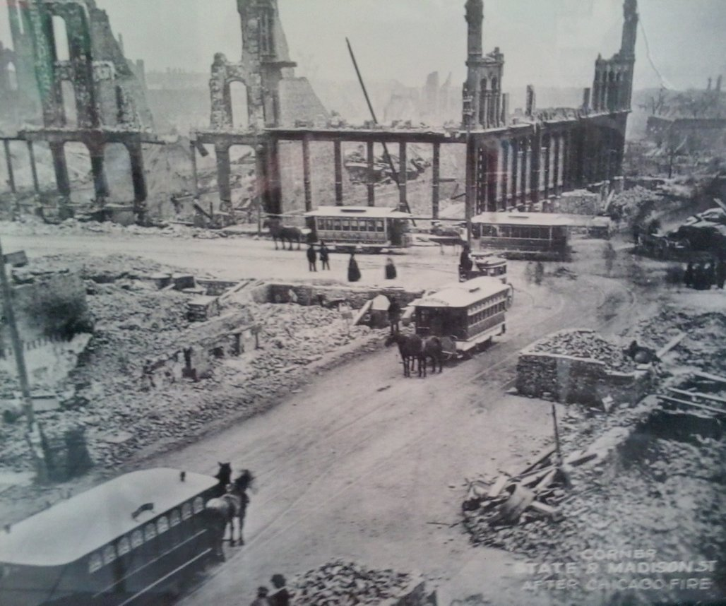 chicago after the fire in 1871